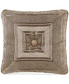 "J Queen New York Bradshaw 18"" Square Decorative Pillow"