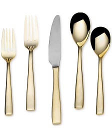 Delano Gold-Plated 20-Piece Flatware Set, Service for 4