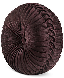 """J Queen New York Sicily Tufted 15"""" x 2"""" Round Decorative Pillow"""