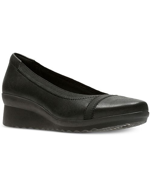 abde1956aee8 Clarks Collection Women s Cloudsteppers trade  Caddell Dash Wedges ...