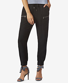 Avec Les Filles Jogger Pants With Exposed Zippers