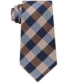 Tommy Hilfiger Men's TH Flex Gingham Silk Tie
