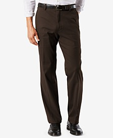 Men's Easy Classic Fit Khaki Stretch Pants