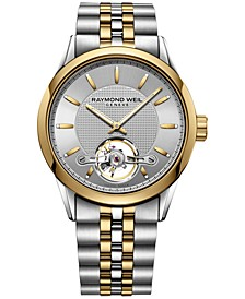 Men's Swiss Automatic Freelancer Two-Tone PVD Stainless Steel Bracelet Watch 42mm