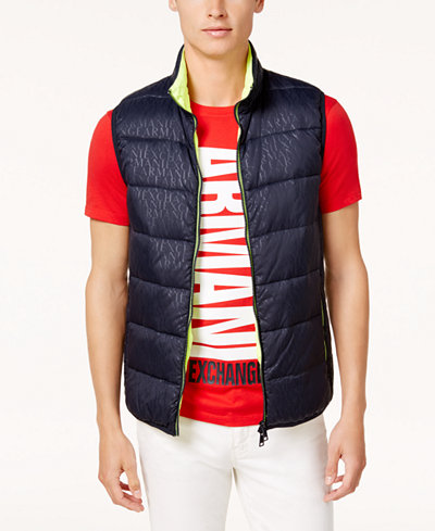 Armani Exchange Men's Logo Puffer Vest
