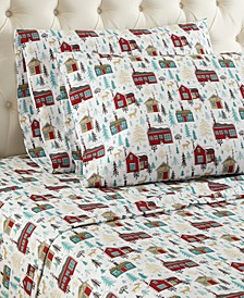 Micro Flannel Printed Twin 3-pc Sheet Set