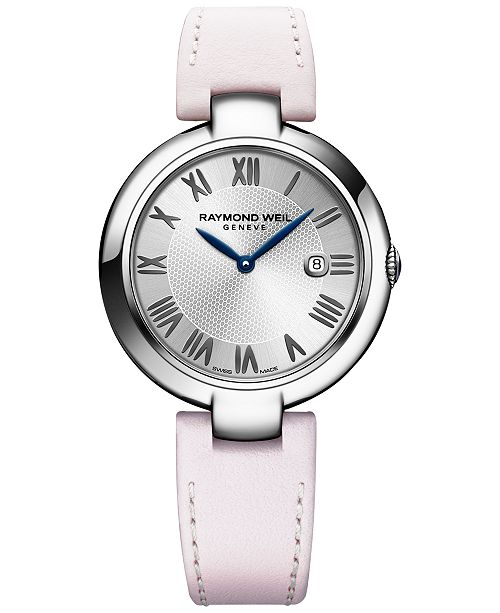 f207d1c9121 ... Raymond Weil Women s Swiss Shine Stainless Steel Bracelet Watch 32mm  with Interchangeable Repetto Leather Strap ...