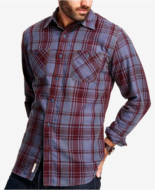 Weatherproof Vintage Men's Plaid Flannel Shirt