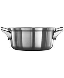Calphalon Premier Space-Saving Stainless Steel 5-Qt. Dutch Oven & Lid