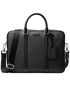 Men's Logo-Print Briefcase