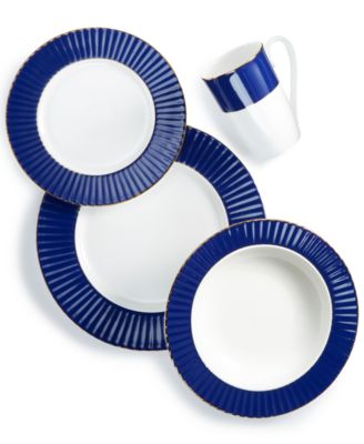 Pleated Colors Navy  4-Pc. Place Setting