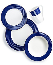 Pleated Colors Navy Dinnerware Collection