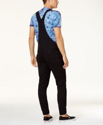 Men's denim overalls