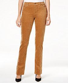 Charter Club Petite Lexington Corduroy Straight-Leg Pants, Created for Macy's