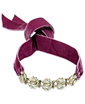 I.N.C. Gold-Tone Large Crystal Cluster Wide Ribbon Choker Necklace, Created for Macy's