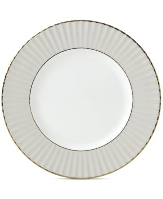 Pleated Colors Gray Salad Plate