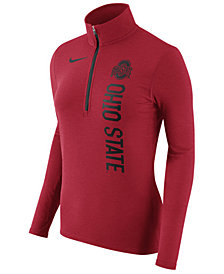 Nike Women's Ohio State Buckeyes Stadium Element Quarter-Zip Pullover