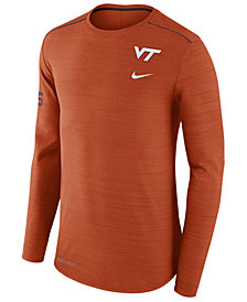 Nike Men's Virginia Tech Hokies Dri-Fit Breathe Long Sleeve T-Shirt