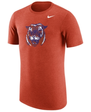 Nike Men's Clemson Tigers Vault Logo Tri-Blend T-Shirt