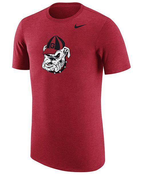 Nike Men's Georgia Bulldogs Vault Logo Tri-Blend T-Shirt