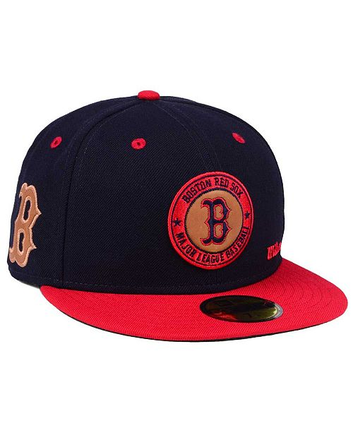 New Era. Boston Red Sox X Wilson Circle Patch 59FIFTY Fitted Cap. Be the  first to Write a Review. main image  main image ... dd981eacb88e