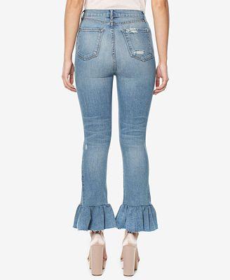 Buffalo David Bitton Ivy Ruffled Skinny Jeans - Jeans - Women - Macy's
