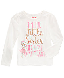 Epic Threads Mix and Match Little Sister Graphic-Print Shirt, Little Girls, Created for Macy's