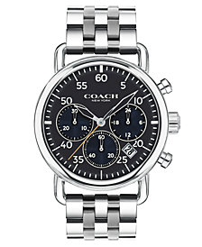COACH Men's Chronograph Delancey Stainless Steel Bracelet Watch 42mm