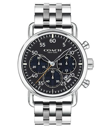 COACH Men's Chronograph Delancey Stainless Steel Bracelet Watch 42mm