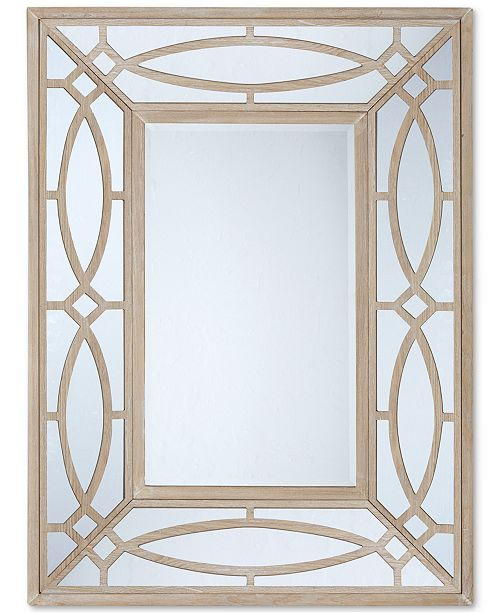 JLA Home Madison Park Bancroft Natural Wood Frame Mirror - Mirrors ...