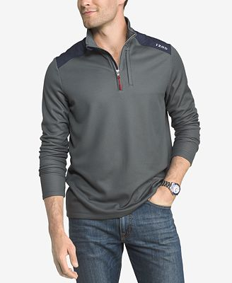 IZOD Men's Move It Quarter Zip Performance Pullover - Casual ...