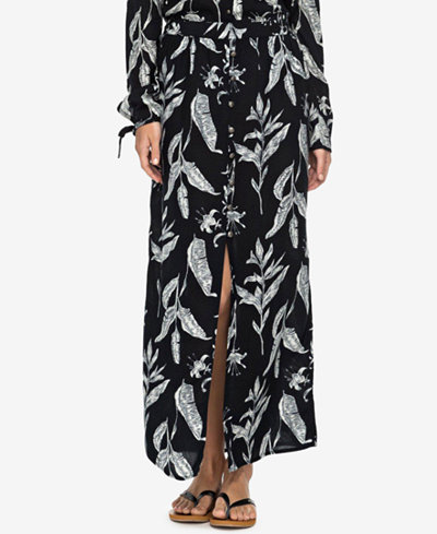 Roxy Juniors' Speed of Sound Printed Maxi Skirt