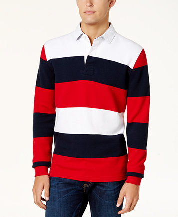 Tommy Hilfiger Men S Striped Rugby Shirt Casual On Down Shirts Macy