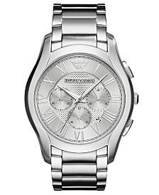 Emporio Armani Men's Chronograph Valente Stainless Steel Bracelet Watch 45mm
