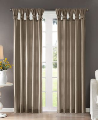 "Emilia 50"" x 95"" Lined Faux-Silk Twisted Tab Window Panel"
