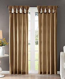 Madison Park Emilia 50 X 84 Lined Faux Silk Twisted Tab Window Panel