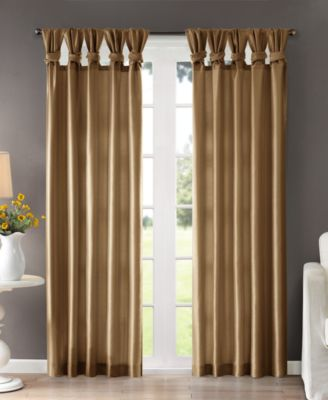 Madison Park Emilia Lined Faux Silk Twisted Tab Window Panel Collection