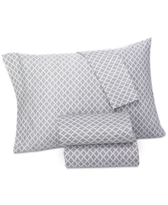 Brooke Navy Twin Sheet Set, Created for Macy's