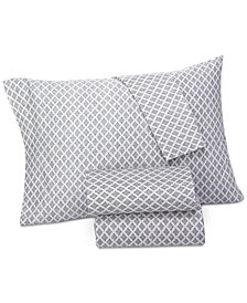 Lucky Brand Brooke Navy Standard Pillowcases, Pair, Created for Macy's