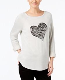 I.N.C. Embellished Heart Sweatshirt, Created for Macy's