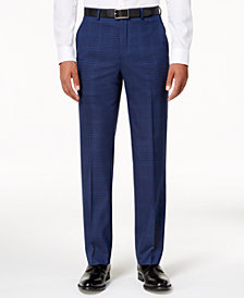 Sean John Men's Classic-Fit Dusty Blue Windowpane Stretch Pants