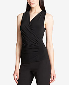 DKNY Faux-Wrap Top, Created for Macy's