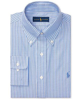 af5eb0162bd Polo Ralph Lauren Men s Regular Fit Blue Multi-Striped Oxford Dress Shirt    Reviews - Dress Shirts - Men - Macy s