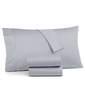 Queen Egyptian Blue Solid Sheet Set 4 Piece 800 Thread Count Egyptian Cotton