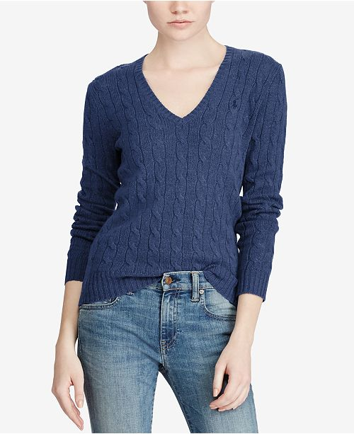 910ce8ab7 Polo Ralph Lauren V-Neck Wool-Cashmere Blend Sweater   Reviews ...