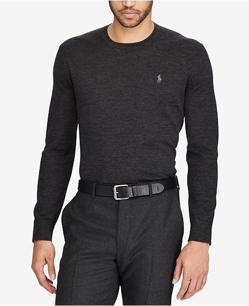 ed894bd5f2d Polo Ralph Lauren Men s Merino Wool Crew Neck Sweater   Reviews ...