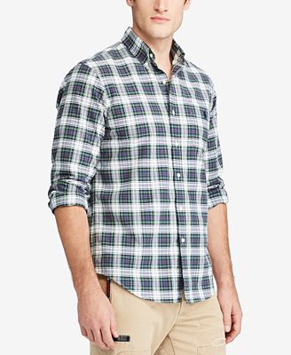 Polo Ralph Lauren Men's Iconic Plaid Oxford Shirt
