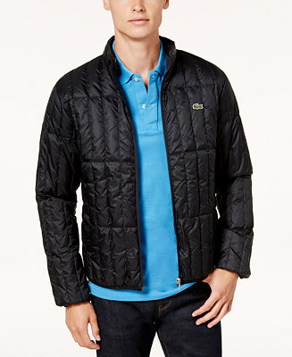 Lacoste Men S Lightweight Packable Quilted Down Jacket