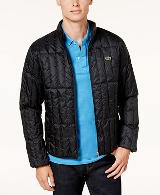 Lacoste Men's Lightweight Packable Quilted Down Jacket - Coats ...