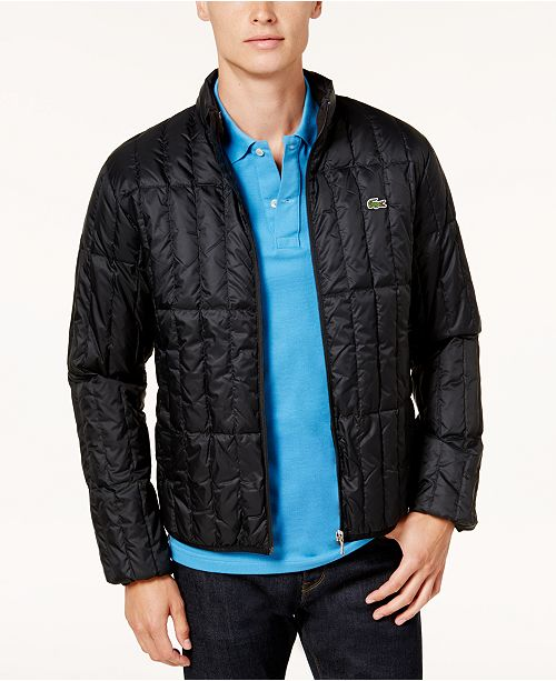 56c85f113 Lacoste Men s Lightweight Packable Quilted Down Jacket   Reviews ...